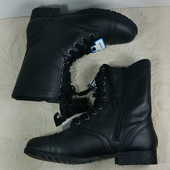 Time and Tru Shoes | Boots Combat Moto
